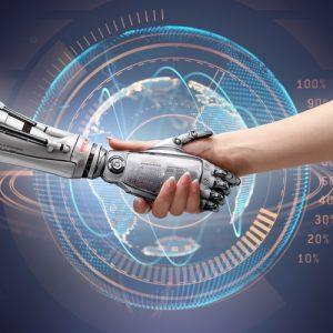 film su intelligenza artificiale stretta mano
