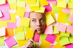 come allenare la mente allo studio postit