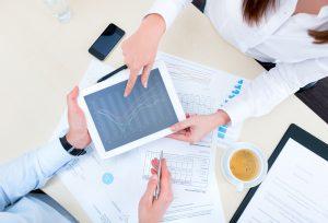 Consulente fiscale di impresa tablet